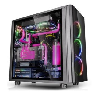 Thermaltake BOITIER  ATX VIEW 31 TG BLACK TEMPERED GLASS RGB EDITION
